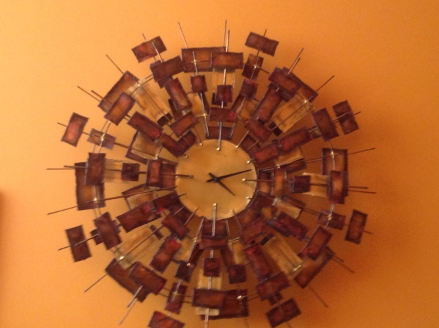 Brutalist Sunburst Clock